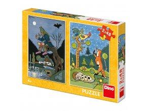 Puzzle 2x48 dílků Josef Lada Pohádky skladem