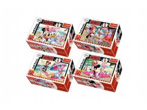 Minipuzzle Minnie & Daisy  54dílků asst 4 druhy v krabičce 9x6x3cm (1 ks)