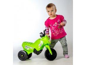 Odrážedlo Enduro Yupee zelené malé plast výška sedadla 26cm nosnost do 25kg od 12 měsíců