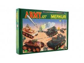 Stavebnice MERKUR Army Set 657ks 2 vrstvy v krabici 36x27x5,5cm