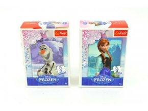 Minipuzzle Ledové království/Frozen 13x20cm 54 dílků asst 4 druhy v krabičce 40ks v boxu