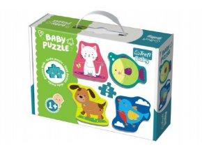 Puzzle baby Zvířátka 2ks v krabici 27x19x6cm