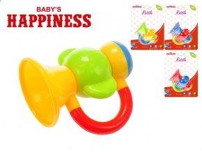 Chrastítko trumpeta 9cm Baby's Happiness