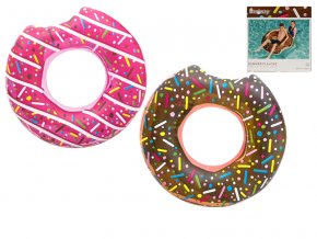 kruh donut hnedy ruzovy 107cm