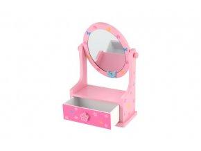 Zrcadlo šperkovnice zásuvka dřevo 16,2x24,2x8,5cm 3 barvy v krabici