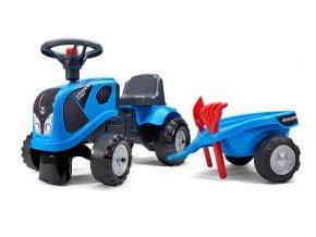 Odstrkovadlo - traktor Landini modré s volantem a valníkem