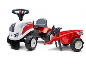 Odstrkovadlo - traktor Stayer bílo/červenés volantem a valní