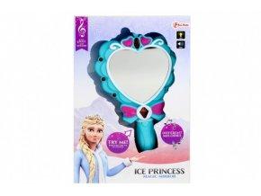 Sada krásy Zrcátko Ledová princezna plast na baterie se světlem se zvukem v krabici 19x11,5x3,5cm