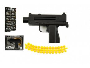 Pistole kov/plast 11cm na kuličky mix druhů v krabičce