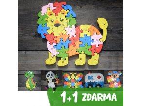 drevene puzzle 1+1