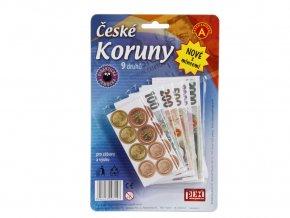 Dětské peníze - České koruny s mincemi