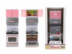 Kuchyňka s doplňky plast na baterie se světlem se zvukem sporák (skladem)