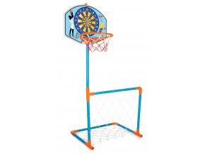Basket + fotbalová branka s míčem (dráček s medvědem)