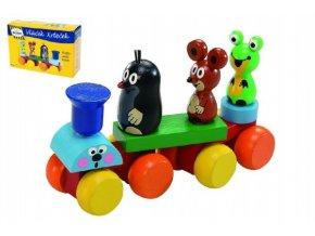 Vlak Krtek dřevo 15cm
