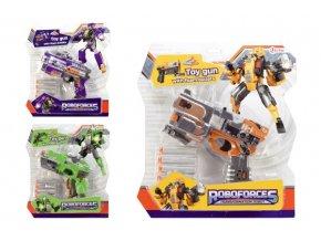 Transformer robot/pistole na pěnové náboje plast 18 cm