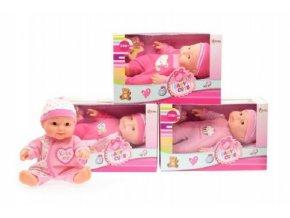 Miminko/panenka plast 22cm pevné tělo mix z v krabici