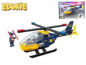 edukie stavebnice policejni vrtulnik 106 ks 2 figurky