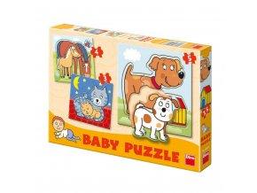 baby puzzle zviratk