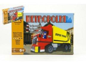 Stavebnice Dromader Auto Kamion 25601 271ks v krabici 32x21,5x5cm