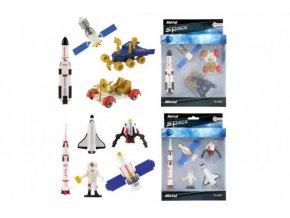 Sada vesmír kov/plast s kosmonautem (spodní obrázek)