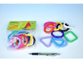 Řetěz/zábrana tvary plast 6cm 10ks