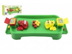 Hladové žáby plast společenská hra v krabici