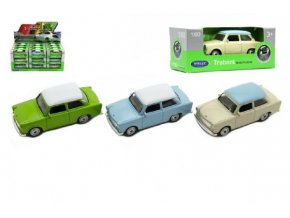 Auto Welly Trabant 1:60 kov 7cm volný chod v krabičce (1 ks)