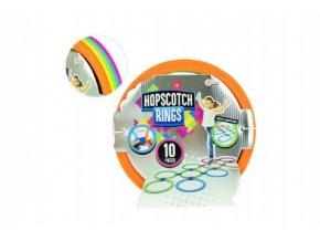 Skákací hra kruhy barevné plast průměr 27cm skladem