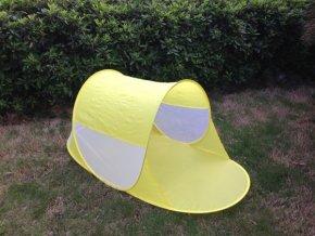 Stan plážový žlutý 140x70x62cm samorozkládací polyester/kov