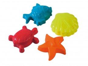 Bábovičky 12 cm mořská zvířátka - 4 ks skladem