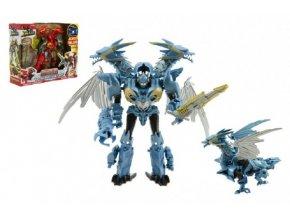 Transformer drak/robot plast červený