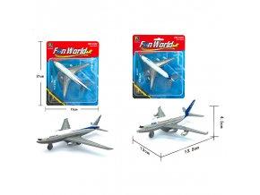 Letadlo civilní kovový model