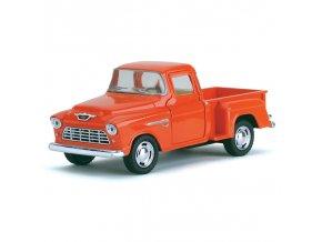 Kovový model autíčka 1955 Cevy Stepside Pic-up