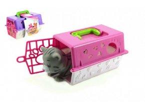 Přenosný box + zvířátko gumové plast