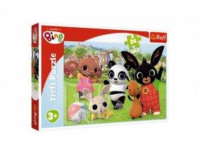 Puzzle Maxi 24 dílků Bing Bunny Zábava v parku 60x40cm