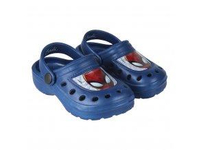 Plážové Clogs Spiderman modrá