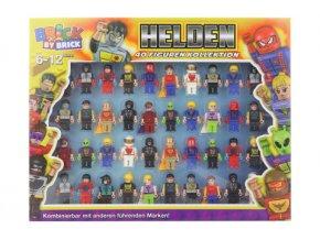 sada postavicek 40 ks superhrdinove