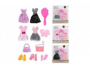 Šaty/Oblečky na panenky s doplňky 4 druhy skladem