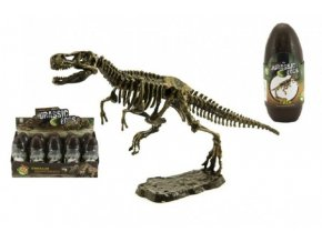 Vejce dinosaurus 3D kostra plast 18cm