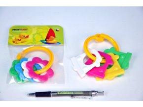Kousátka tvary plast 10cm v sáčku 0m+ skladem