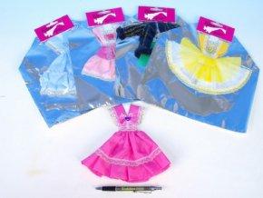 Šaty/Oblečky krátké na panenky bílé