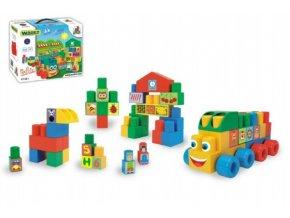 Kostky stavebnice Middle Blocks plast 33ks v krabici