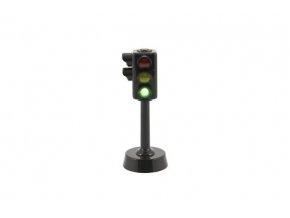 Semafor funkční plast 12cm na baterie se světlem se zvukem (1 ks)