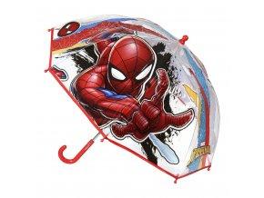 Dětský manuální deštník Spiderman průsvitný