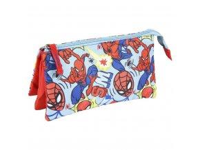 Penál na zip Spiderman červený