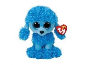 Beanie Boos plyšový pejsek sedící modrý Pudlík 24 cm