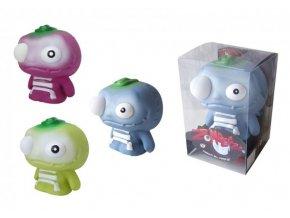 Zombeezz figurka 12cm střílející okem guma + 5ks míčků 2 barvy v plastové krabičce 10x15x10cm