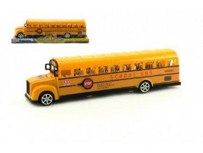 Autobus školní plast 30cm na setrvačník v krabici skladem