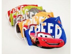 rouska detska auta cars 5 barev
