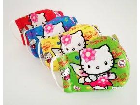rouska detska hello kitty 5 barev